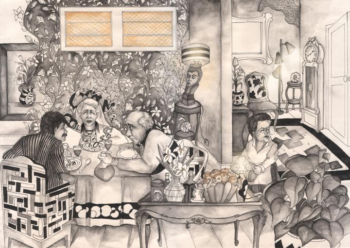 Filipa de chassey design illustration for The balcony book